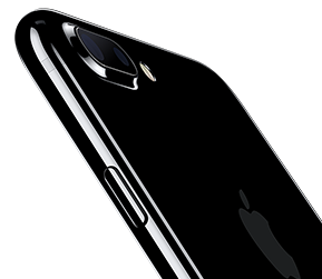 top of an iphone 7 plus with dual camera