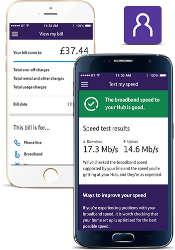 View download speed with My BT app